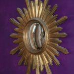 miroir de sorcière - Brocante du Prieuré - miroir soleil
