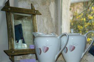 miroir ancien laiton Brocante de la Pointe Minard