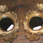 petits miroirs dorés Brocante du Prieuré vendus