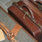 valise Hartmann squaremouth cuir Brocante du Prieuré