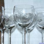 série de verres anciens Brocante du Prieuré