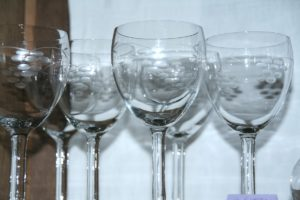 série de verres anciens Brocante de la Pointe Minard