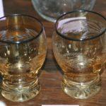 verres années 30 Brocante du Prieuré cadeaux