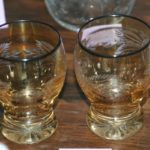verres années 30 Brocante de la Pointe Minard cadeaux