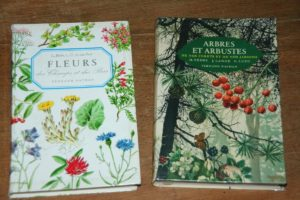 livres et fleurs à la Brocante de la Pointe Minard de Chichée, à deux pas de Chablis