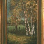 paysage de Camberlin à la brocante du Prieuré de Chichée près de Chablis