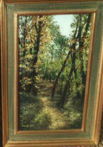 chemin en forêt de Camberlin à la Brocante de la Pointe Minard de Plouézec, près de Paimpol