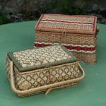 boite à couture vintage à la Brocante de la Pointe Minard de Plouézec, près de Paimpol