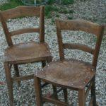 chaises de bistrot Luterma à la Brocante du Prieuré de Chichée près de Chablis