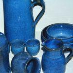 grès bleu de Puisaye à la Brocante du Prieuré de Chichée près de Chablis