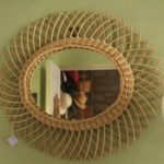miroir en osier soleil à la Brocante du Prieuré de Chichée près de Chablis
