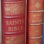 la Sainte Bible du chanoine Crampon 1961 à la Brocante du Prieuré de Chichée près de Chablis