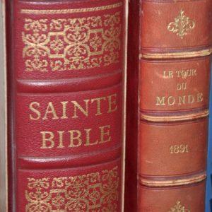la Sainte Bible du chanoine Crampon 1961 à la Brocante de la Pointe Minard de Plouézec, près de Paimpol
