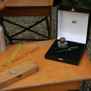 stylo Mont Blanc Meisterstück 149 18K à la Brocante de la Pointe Minard à Plouézec, près de Paimpol