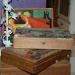 puzzles cubes vintage à la Brocante de la Pointe Minard de Chichée près de Chablis