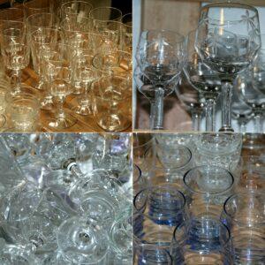 verres à Brocante de la Pointe Minard à Plouézec, près de Paimpol